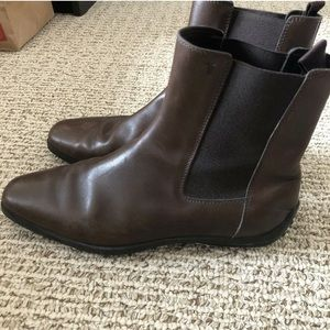 Tods ankle Chelsea boots size 7.5 brown